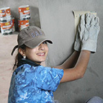 Daniela working for Habitat